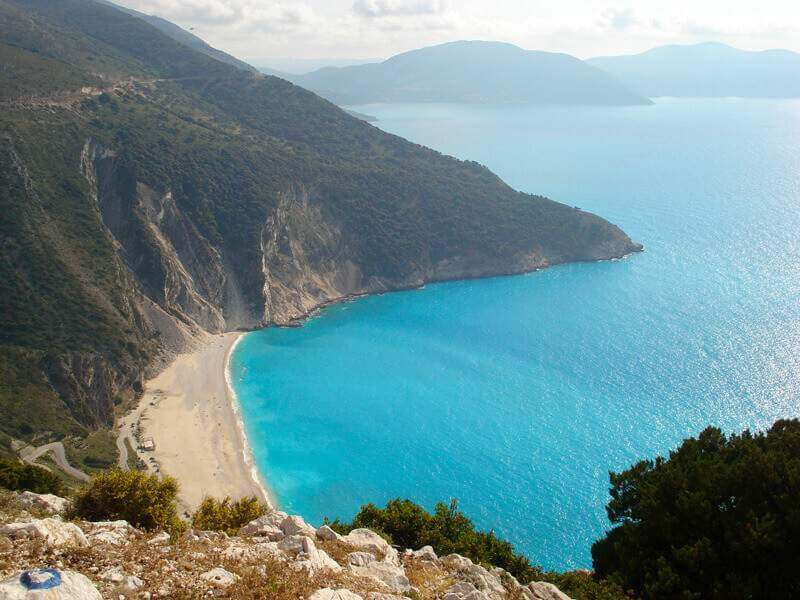 Myrtos beach from above