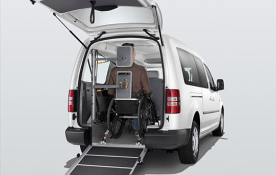 Volkswagen Caddy Mobility for wheelchair support